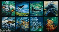 8 BEAUTIFUL SEA LIFE PANELS SEAHORSE TURTLES FOR QUILT HOME DECOR PROJECT #2