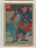 1954-55 PARKHURST  # 68 DON RALEIGH CREASED