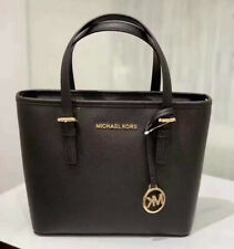 Michael Kors Women Leather XS Crossbody Tote Shoulder Bag Purse Handbag Black MK