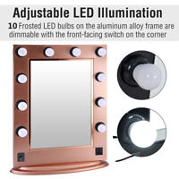 9/10 Bulbs Hollywood Makeup Vanity Mirror with Light Dimmer Stage Beauty Mirror