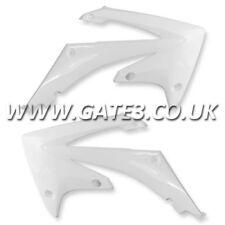 HONDA CRF450R CRF 450 R 2009-2012 WHITE RADIATOR RAD SCOOPS SHROUDS MX PLASTICS