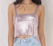 Pink Glomesh Festival Crop Top Size 12