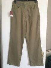 """NUOVO Burton Menswear Pantaloni 32"""" vita, lunghezza regolare £ 22 Beige Cachi chiaro"""