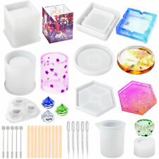 Silicone Resin Epoxy Resin Casting Art Molds for DIY Cup Pen Coaster Soap Candle