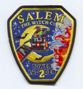 Salem Fire Department Tower Ladder 2 Patch Massachusetts MA Witch