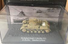 """DIE CAST TANK """" PZ.KPFW.II AUSF. F (SD.KFZ.121) 21.PZ.DIV. GAMBUR (LIBYA) """" 1/72"""