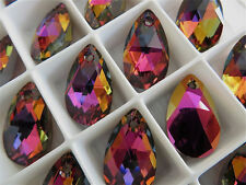 1 Crystal Volcano Swarovski Crystal Pendant Teardrop 6106 22mm
