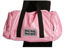 Pineapple Shimmery Pink Dance Bag Gym Swim Travel Holdall Black Badge