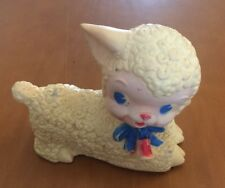 Old Rubber Laying Lamb Toy