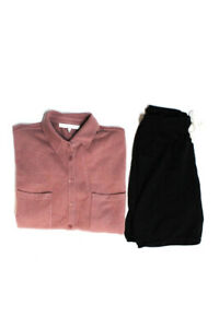 Naked Cashmere Women Knit Button Down Cardigan Shorts Pink Black Size S XS Lot 2