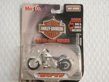 Maisto Diecast Motorcycle HARLEY DAVIDSON 2000 FLSTF Fat Boy 1:24 35094 WHITE