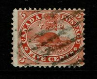 Canada SC# 15 Used (Small Hinge Rem) - S11172
