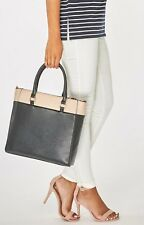 Dorothy Perkins Black Large Tote Handbag Shoulder Bag Office Work Every Day