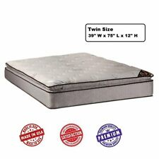 Spinal Dream Plush PillowTop (Eurotop) Twin Mattress Only with Mattress Cover