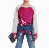 DESIGUAL GIRLS PULLOVER SWEATSHIRT SWEATER EPICURO NEU Gr.122 /128 /7/8 Y