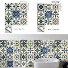 10x Mosaïque Adhésif Carrelage Mural Autocollant Cuisine Bain Décoration Maison