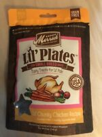 Merrick Lil' Plates Grain Free chunky chicken Small Breed Dry Dog Treats 5 oz