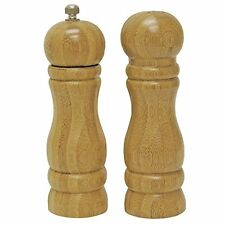Set Wooden Salt and Pepper Mill Grinder Pot Shakers powdery condiment 16cm