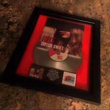 Taylor Swift RED Platinum Record Album Disc Music Award MTV Grammy RIAA