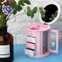 Lovely Music Box Clockwork Jewelry Storage Girl NEW YEAR Birthday Gift Exquisite