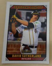 David Sutherland 2018/19 Australian Baseball League Trading Card Brisbane Bandit