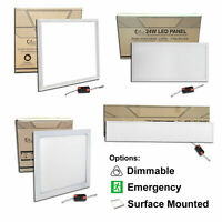 Emergency, Dimmable & Surface Mounted LED Panels 600x600 1200x300 1200x600 +More