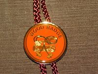 VINTAGE BSA BOY SCOUTS OF AMERICA WOOD BADGE AXE E BOLO TIE NEW