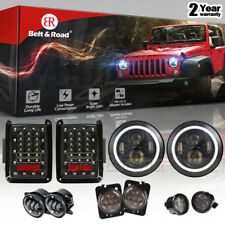 "7"" LED Headlight, FogLights, Turn Signal, Fender Lamp, Tail light Jeep JK 07-17"