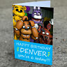 Five Nights at Freddy's  Birthday Card - Professionally printed and personalised