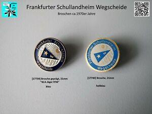 Frankfurter Schullandheim Wegscheide Brosche ca.1970er Jahre = aussuchen