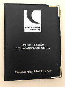 CAA Commercial Pilot Licence Holder Navy Blue (Large)