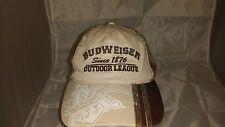 """Budweiser Camo Baseball Hat/Cap  """"Since 1876 Outdoor League"""""""