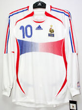 2006-07 France Away No.10 ZIDANE L/S Player Issue match Slovakia shirt jersey