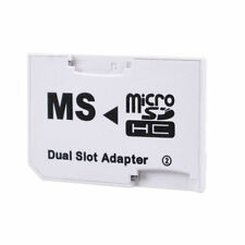 NEW CR-5400 MicroSD MicroSDHC TF Card to MS Pro Duo Dual Slot Adapter
