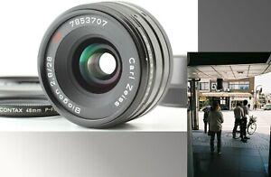 【MINT TESTED】 CONTAX Carl Zeiss Biogon T 28mm f/2.8 Black G G1 G2 Hood Filter