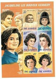 VINTAGE CLASSICS - Gambia 0212 Jacqueline Kennedy First Lady - Sheet Of 6 - MNH