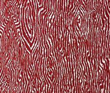 LACEFIELD DESIGNS FAUX BOIS SANGRIA RED WHITE ZEBRA ANIMAL FABRIC BY THE YARD