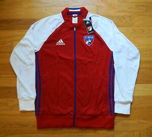 FC Dallas MLS adidas Anthem Red/White Full-Zip Jacket Men's