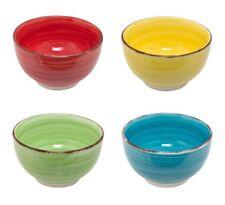Set of 4 Brushed Effect Ceramic Cereal Soup Bowl