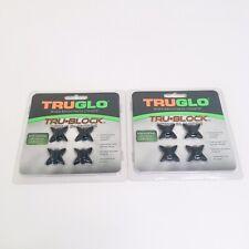 NEW- 2PK OF 4--TruGlo Tru-Block  Black String Silencers TG830BW