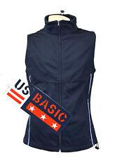 US Basic Cromwell Ladies Soft Shell Body Warmer Gilet Navy  Reflective Strips