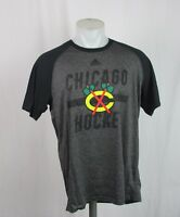 NHL Men's  M, XL Chicago Blackhawks Ultimate Charcoal/Black Shirt Adidas A12MLM