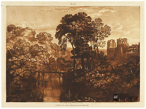 "Berry Pomeroy Castle South Devon England ""Liber Studiorum"" J.M.W. Turner ca.1816"