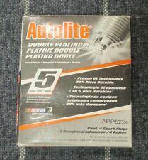 Autolite APP5224 Double Platinum Spark Plugs NEW 4 PACK