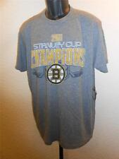 NEW Boston Bruins 2011 Stanley Cup Champions Mens Large L Gray Shirt by GIII