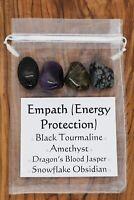 Empath Energy Protection Crystal Set Tourmaline Amethyst Dragons Jasper Obsidian