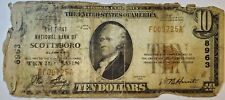 1929 $10 First National Bank of Scottsboro Alabama T1 National Currency Ch #8963