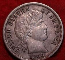 1900-S San Francisco Mint Silver Barber Dime