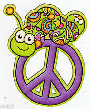 """4"""" PEACE SIGN INCHWORM  CHARACTER PEEL STICK WALL BORDER CUT OUT STICKER"""