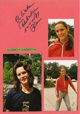 Elzbieta Rabsztyn  Polen  Leichtathletik  Karte signiert WL 344724